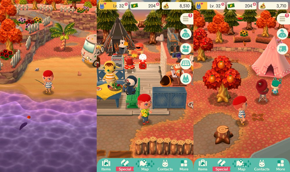 Animal Crossing Pocket Camp, Free to Play Mobile Game, iOS, Android, App Store, Play Store, Fishing, Bugs, Fruits