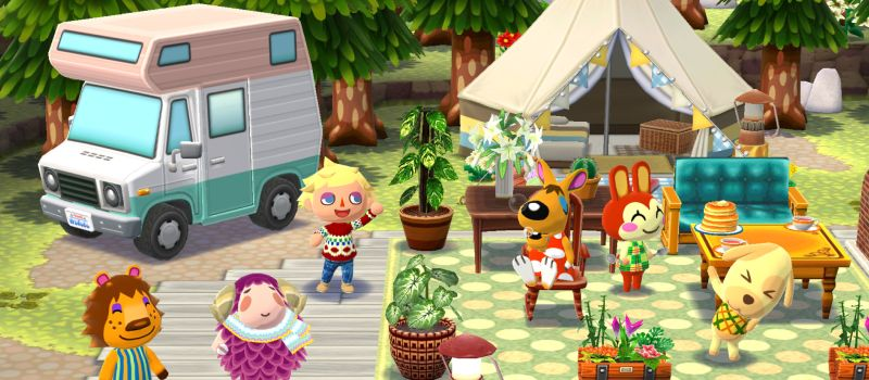 Animal Crossing Pocket Camp, iOS, Android, Mobile Phone, Nintendo, Campsite