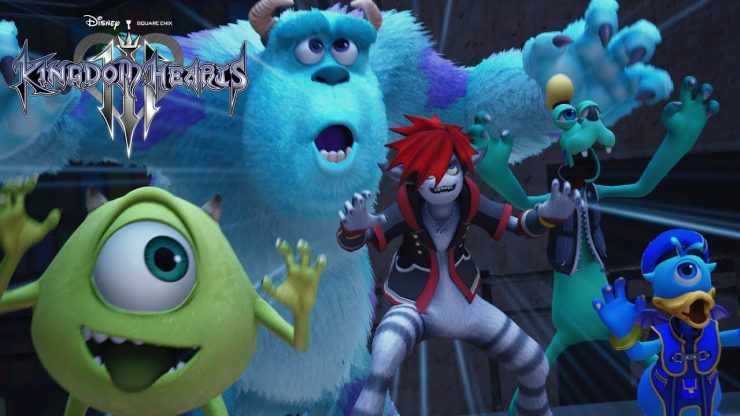Kingdom Hearts 3, III, Square Enix, PS4, Playstation 4, D23 2018, Monsters Inc, Pixar