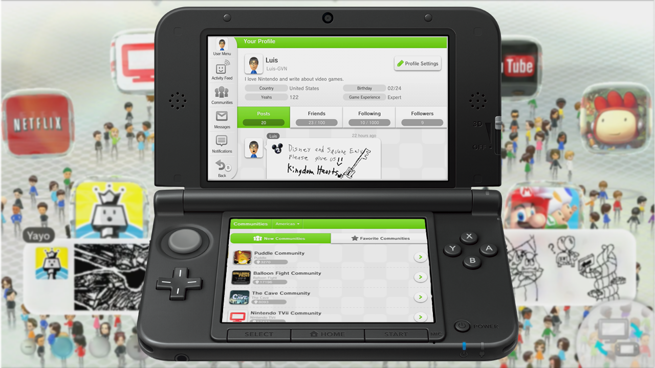 Nintendo Miiverse 3DS Switch Mii