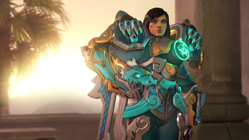 Overwatch Pharah, Qinglong, Lunar Event, Year of the Dog 2018