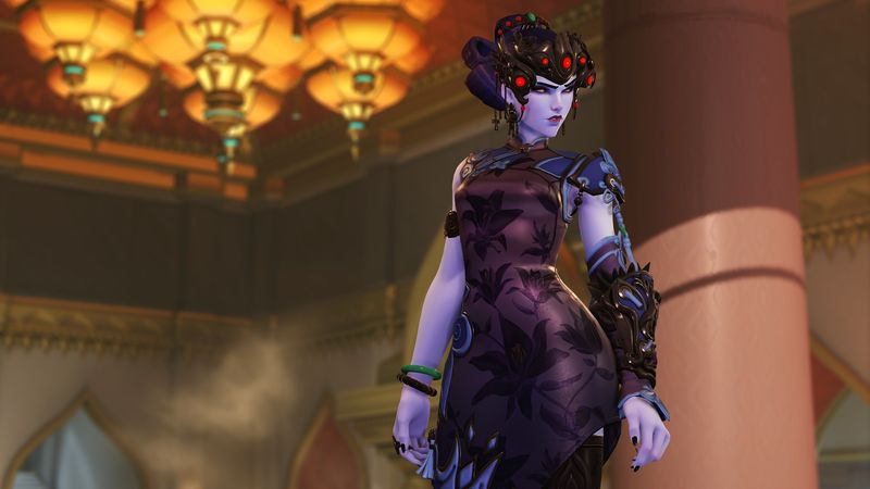 Overwatch Widowmaker, Lunar Event, Year of the Dog 2018, Black Lily