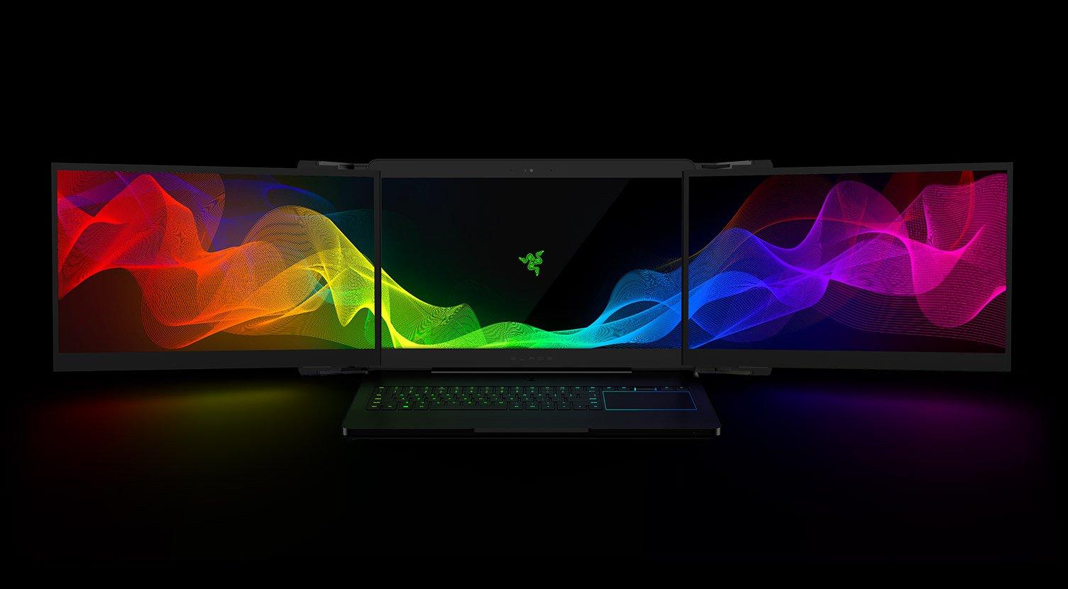 Razer's Three Screen Laptop Are Triple The Fun