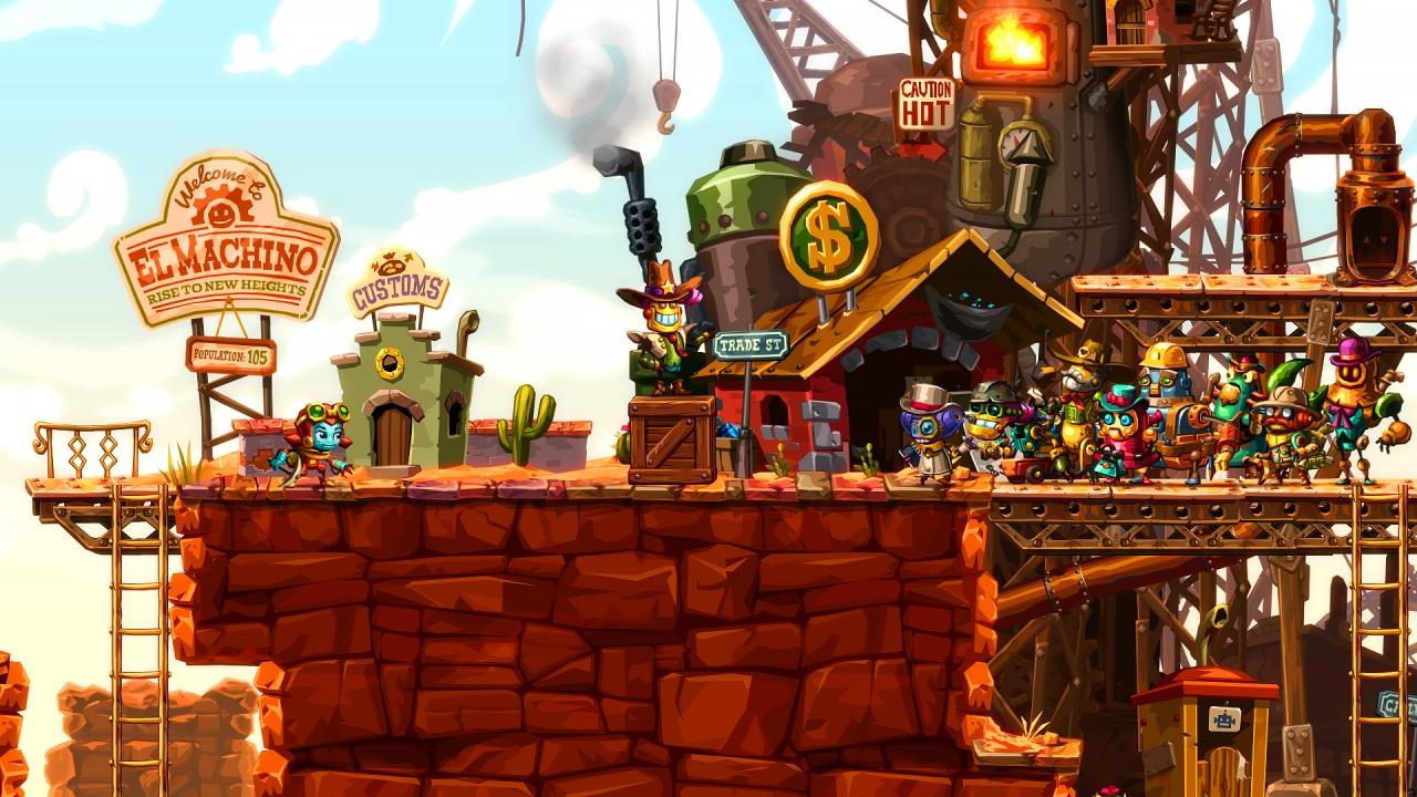 Steamworld 2, image and form, platformer, PlayStation 4, PlayStation Vita, PC Game, PS4, Switch