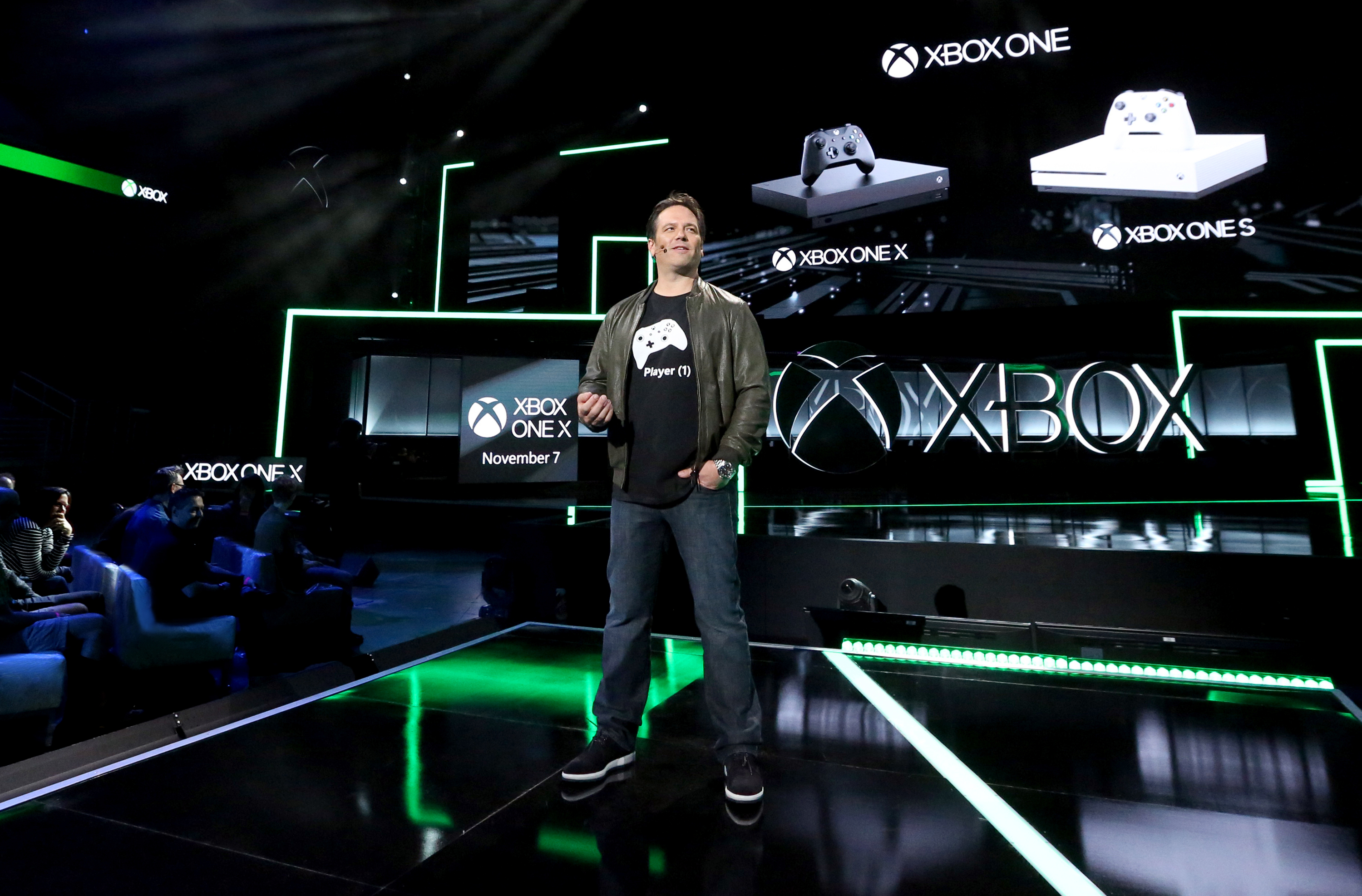Xbox One X Microsoft E3 2017 Phil Spencer
