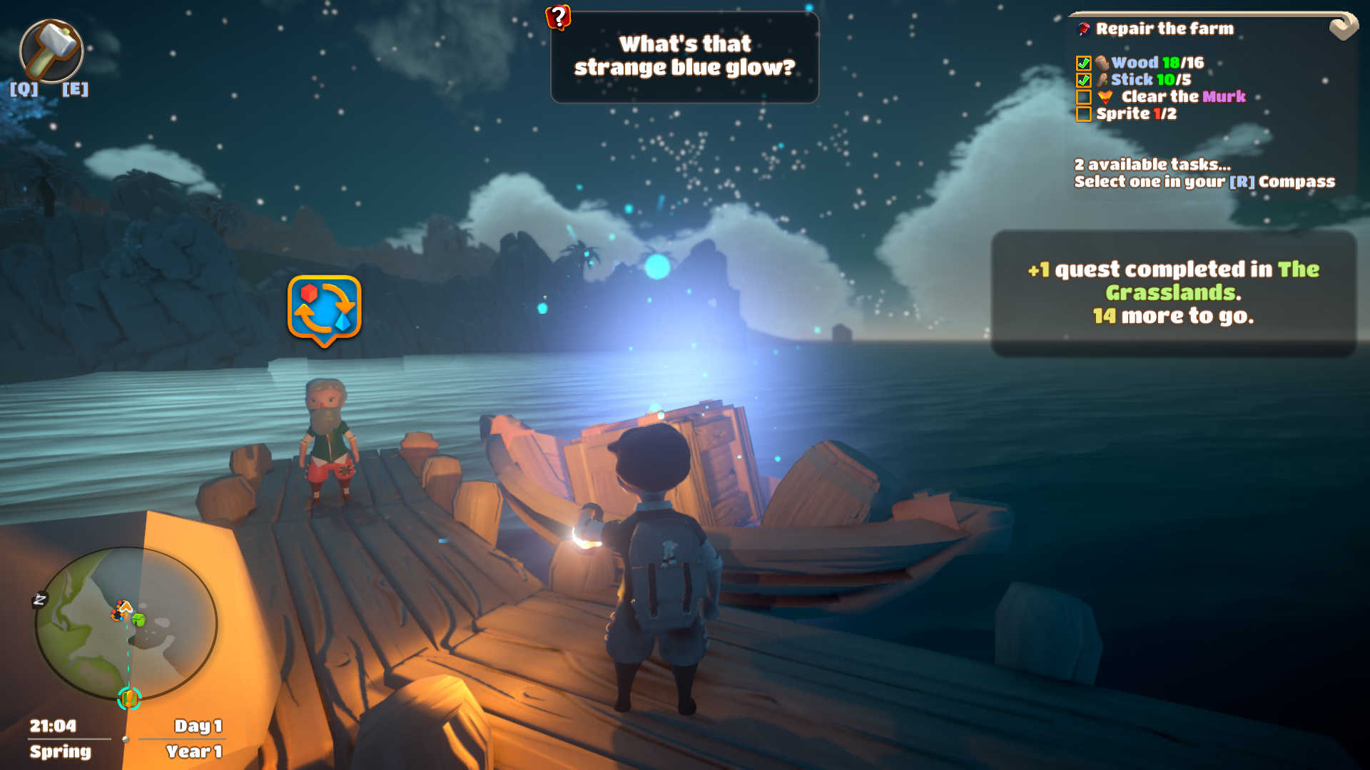 yonder the cloud catcher chronicles, prideful sloth, indie game, gamea, crafting