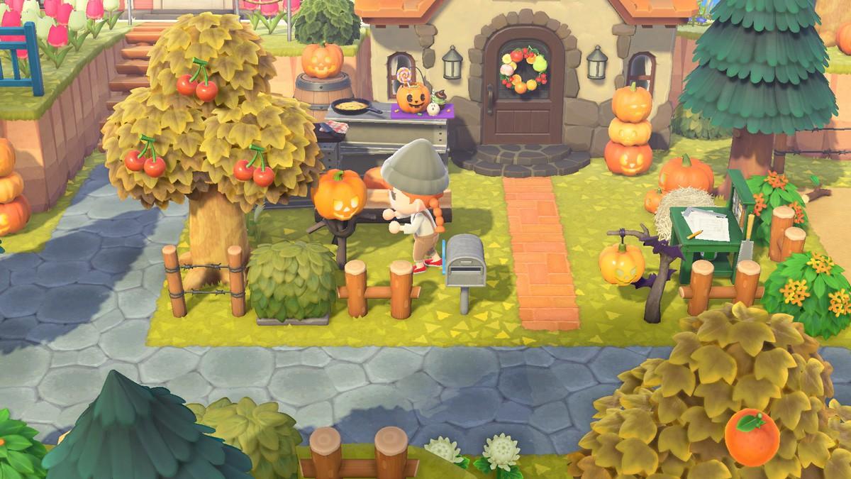 Animal Crossing New Horizons, Nintendo Switch, Fall Update, Halloween, Farming, Jack, Spooky Set, Furniture