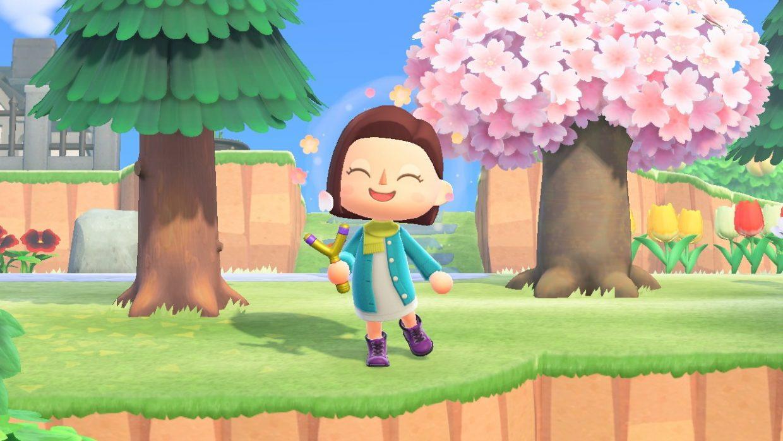 Animal Crossing New Horizons, Nintendo Switch, Nintendo, Golden Tools, Axe, Watering Can, Slingshot, Net, Fishing Rod, Gold