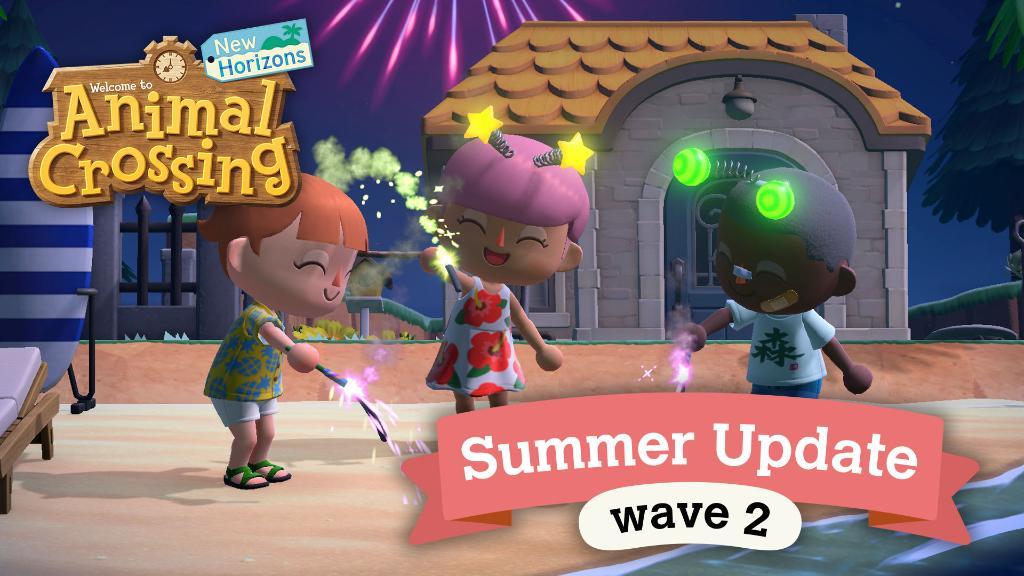 Animal Crossing New Horizons, Nintendo Switch, Summer Update, Wave 2, Dream Suite, Luna, Fireworks