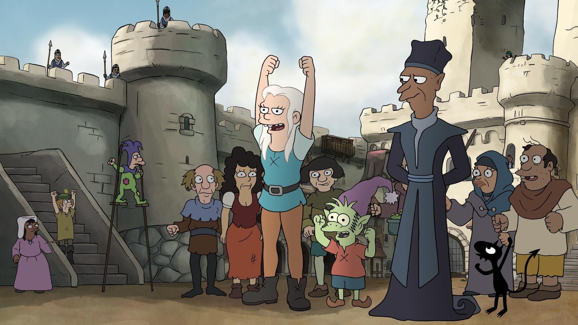 Disenchanment, Matt Groening, The Simpsons, Netflix TV Series, Princess Bean, Elfo, Lucio