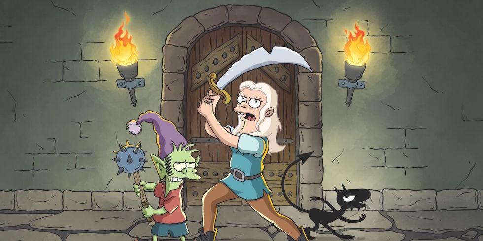 Disenchanment, Matt Groening, The Simpsons, Netflix TV Series