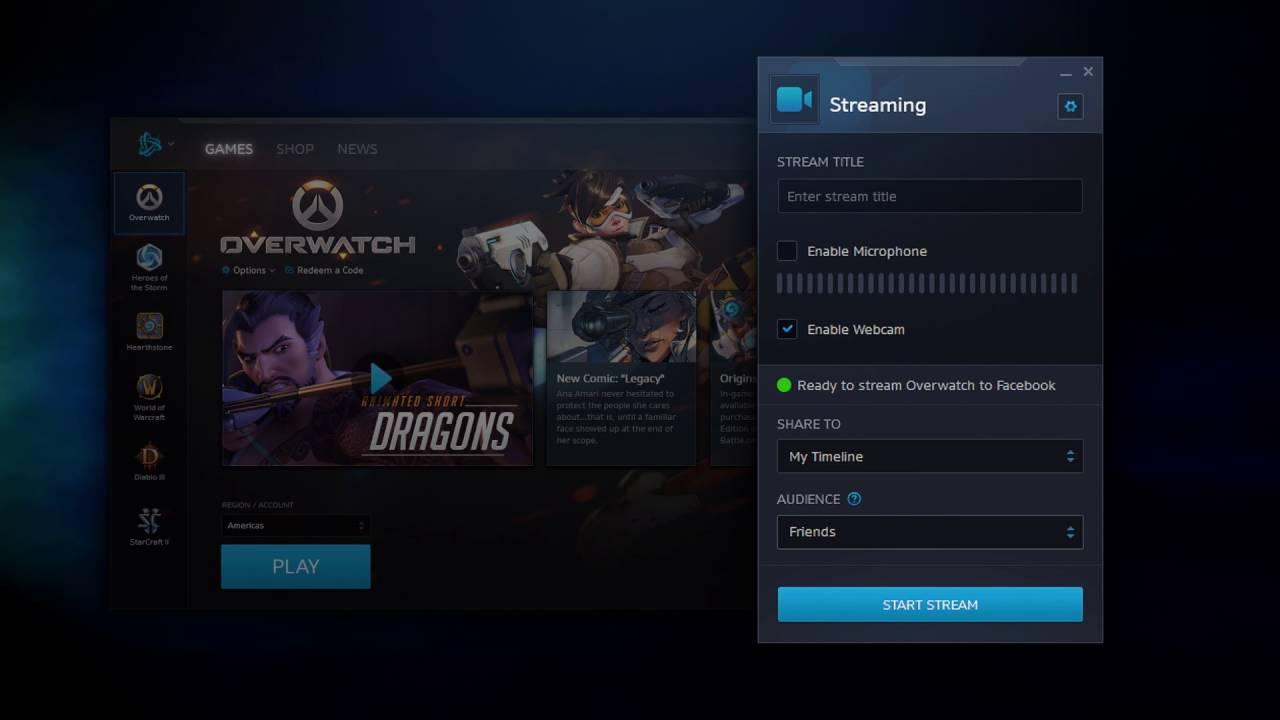 Facebook Game Streaming, Blizzard Entertainment, Overwatch, Partner Programme