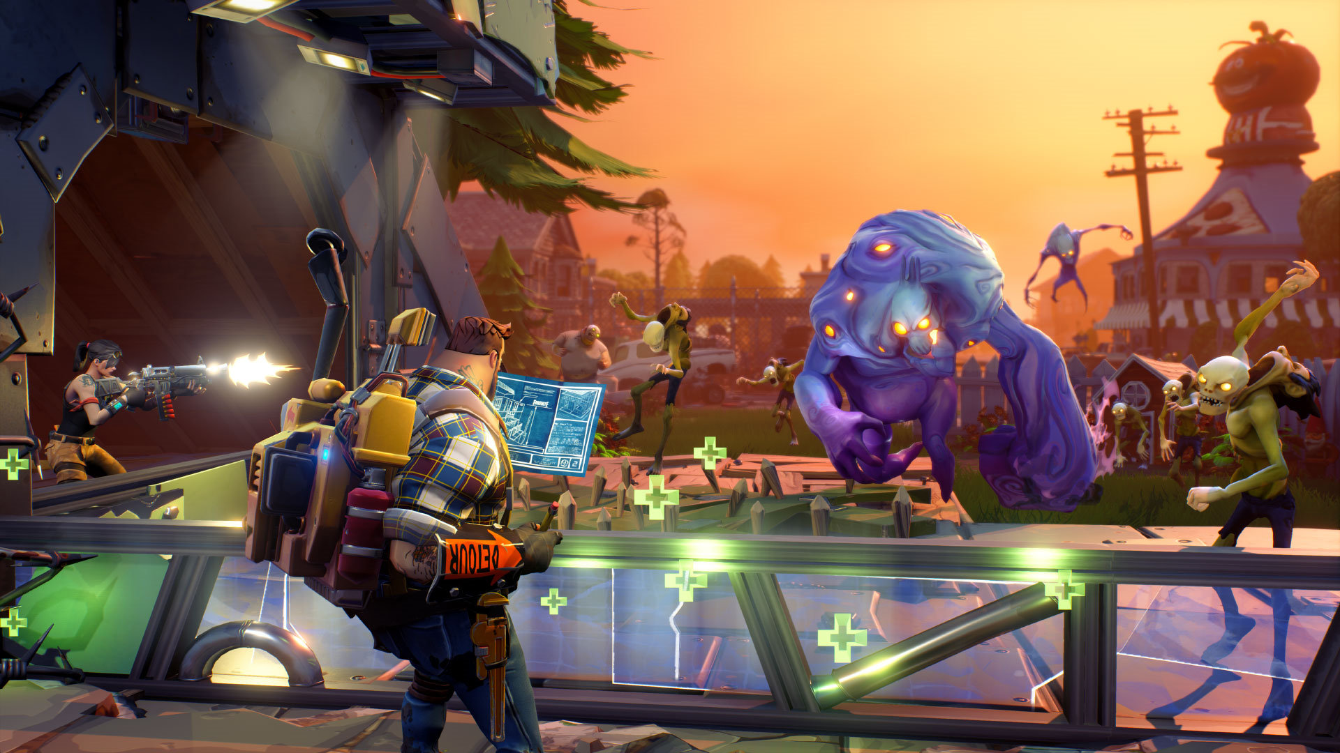 Fortnite Early Access Epic Games Zombie Survival Game PC Xbox One PS4