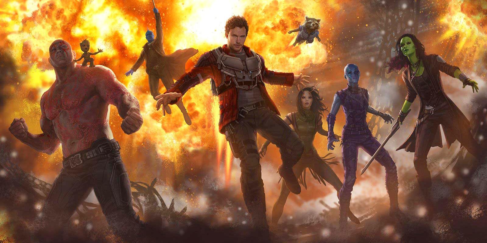 Guardians of the Galaxy Vol 2 Marvel Entertainment Chris Pratt, Zoe Saldana, Dave Bautista, Bradley Cooper, Michael Rooker