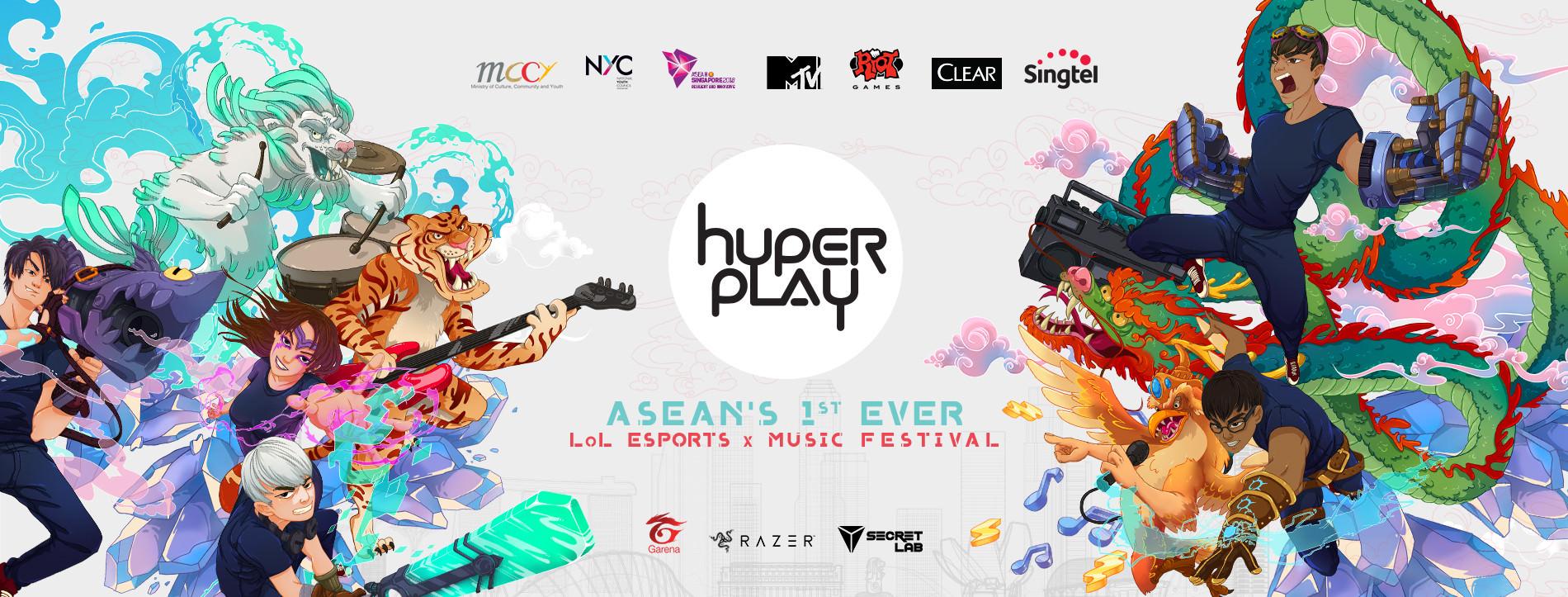 Hyperplay 2018, ASEAN, esports, music festival, Singapore, Malaysia, e-sports, league of legends