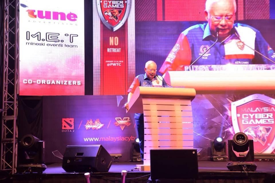 Malaysia Cyber Games 2018, Prime Minister Najib, MCMC, KKMM, Malaysia, eSports
