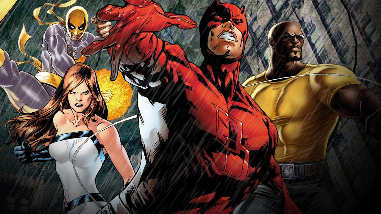 Marvel-Netflix-the-Defenders Jessica Jones Luke Cage Iron Fist Daredevil
