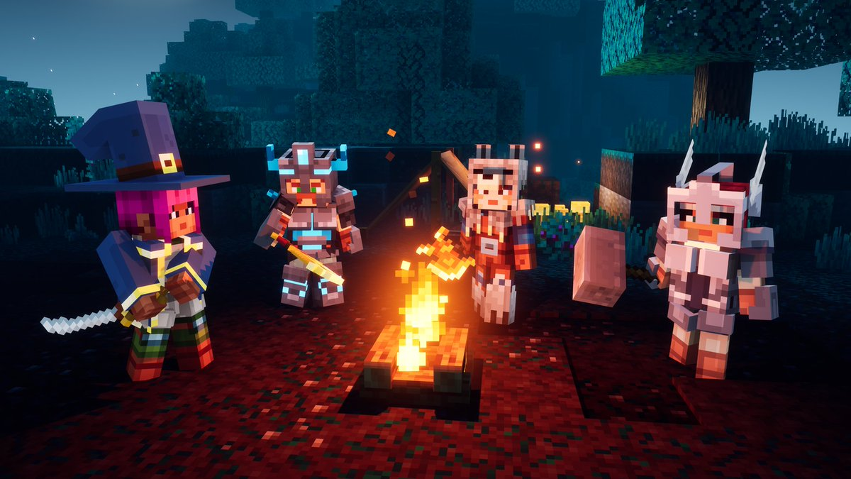 Minecraft Dungeons, Mojang, Double Eleven, PS4, Xbox One, Nintendo Switch, PC Game, Builds, Classes