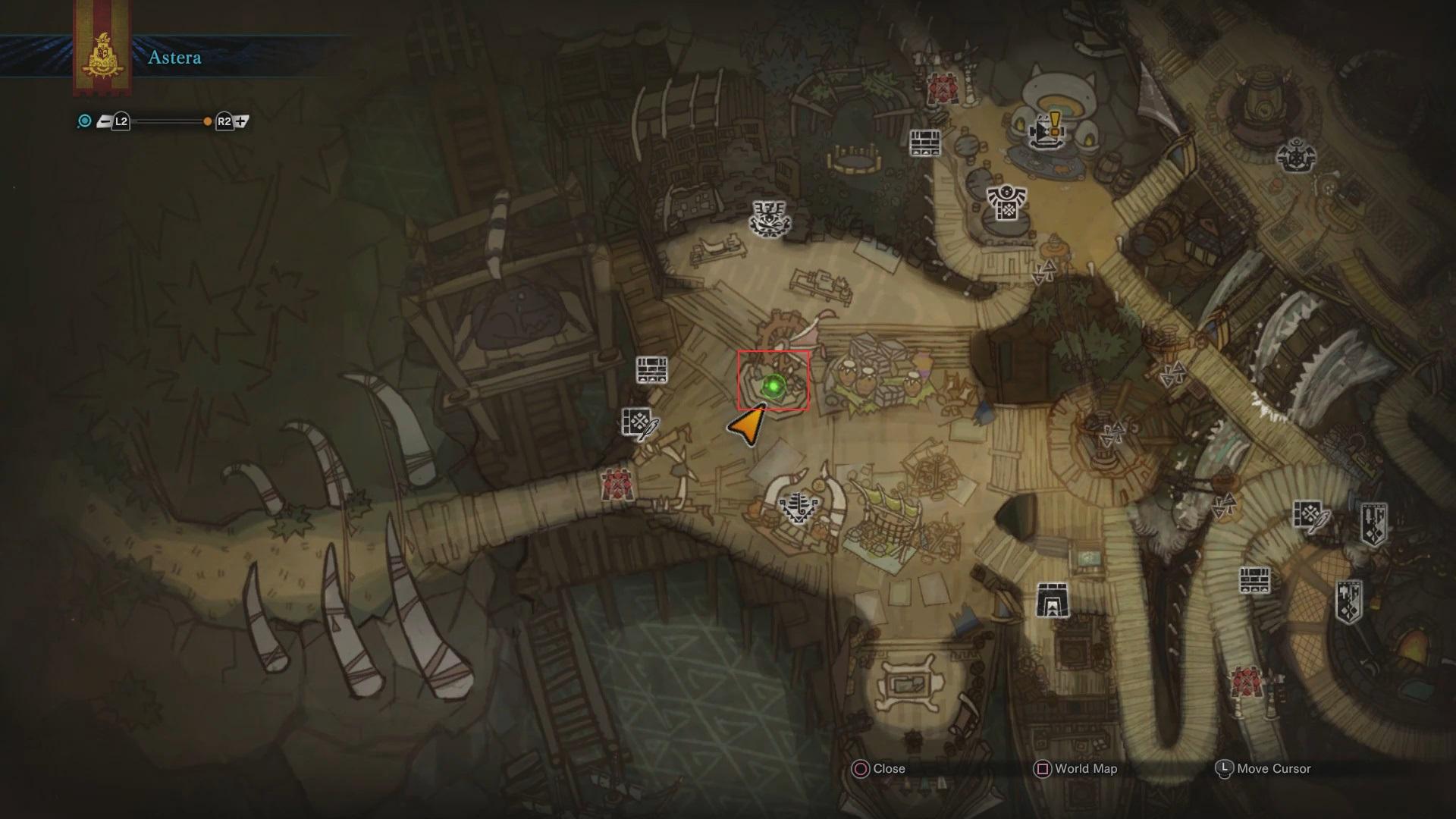 Monster Hunter World, Sony PlayStation 4, Map, Astera