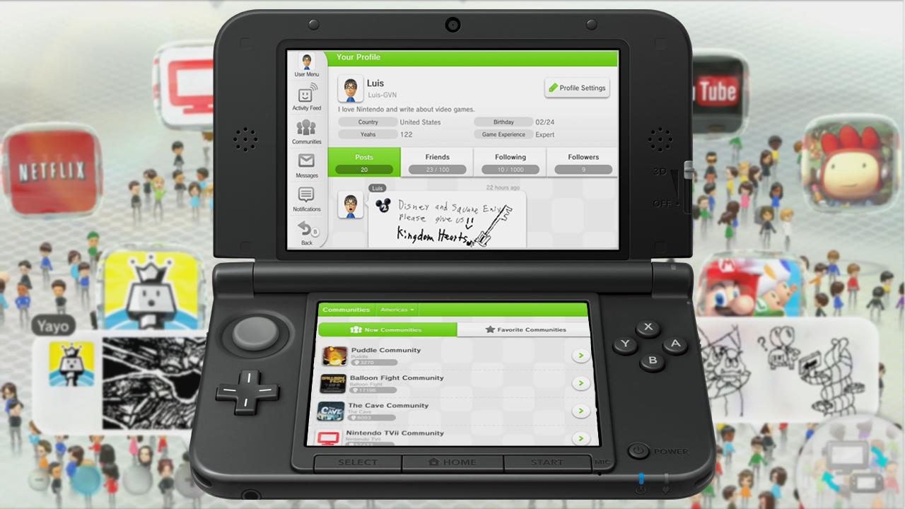 Nintendo Miiverse 3DS Switch Mii