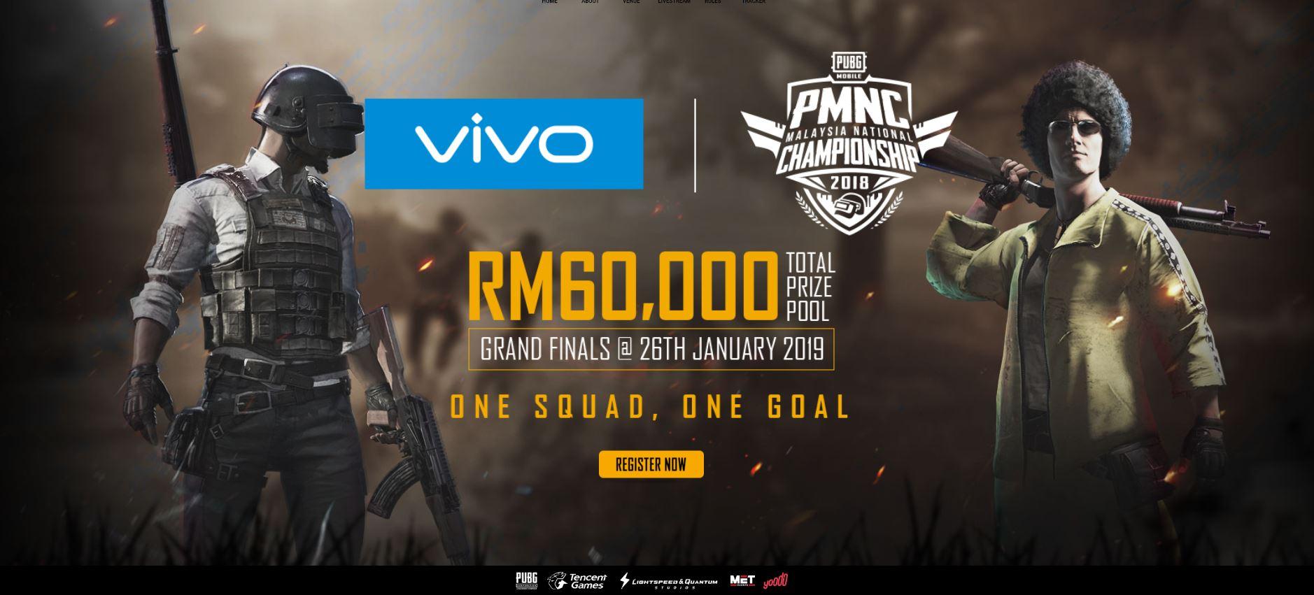 PUBG Mobile, PMNC Malaysia National Championship 2019, 2018, Yoodo, Tencent Games, Vivo