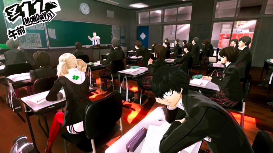 Persona 5, Megami Tensei, Atlus, P Studio, gameplay, japanese school, RPG Dating SIM