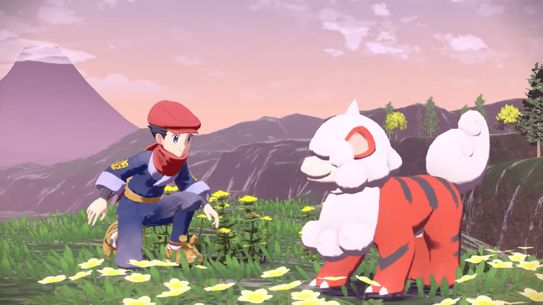 Pokemon Legends Arceus, Open World RPG, Nintendo Switch, Hisui, Hisuian Growlithe, Pokemon Presents, January 2022