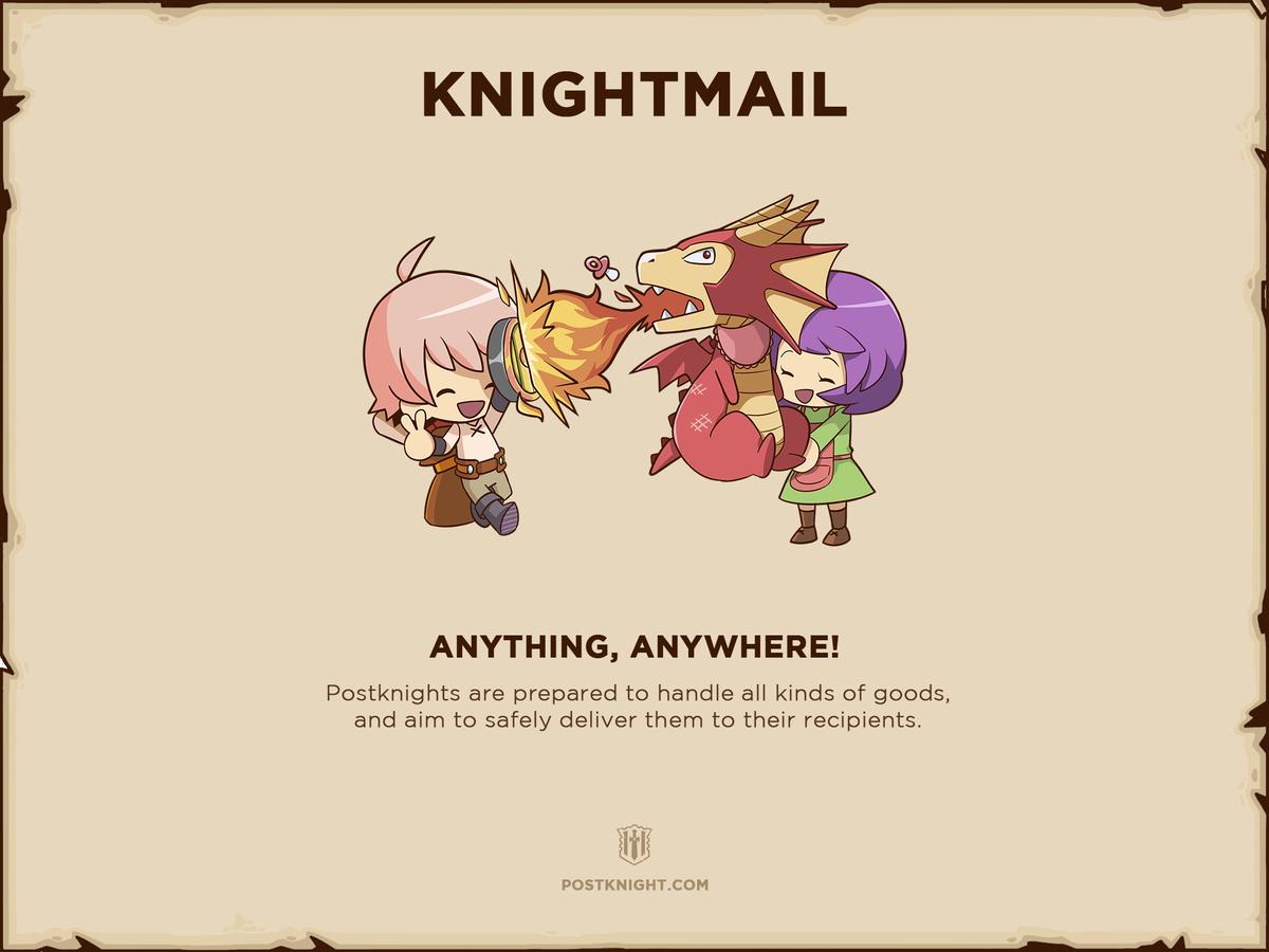 Postknight Kurechii Mobile Game RPG Google Play iOS Knightmail