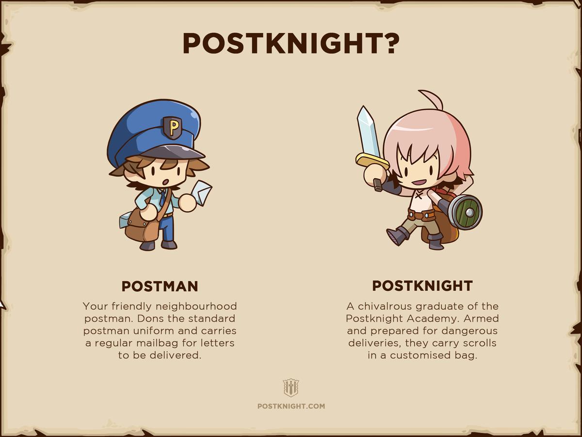 Postknight Kurechii Postman Mobile RPG Indie Game