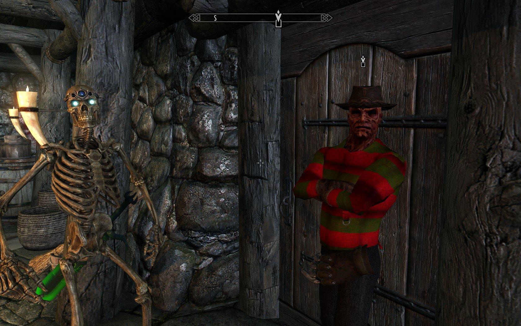 Skyrim Mod Freddy Kreueger Halloween