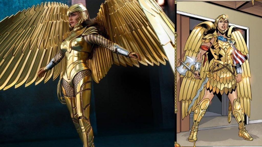Wonder Woman 1984, DC Comics, Gal Gadot, Diana Prince, Easter Egg, Golden Eagle Armor