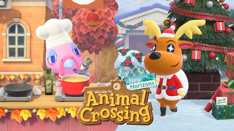 animal crossing new horizons, nintendo switch, winter update 2020, toy day, jingle, turkey day, franklin, festive season, christmas, thanksgiving